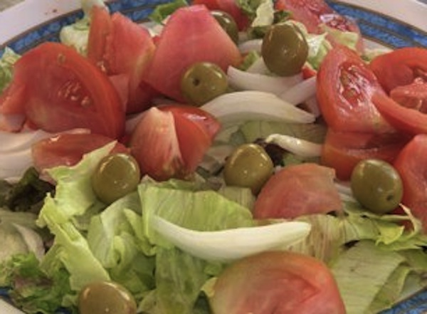 Salade Valencienne Ensalada Valenciana gros plan pour la Paella