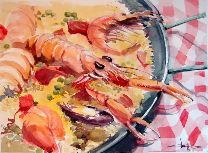 The paella represented in the art world for Bernard peintre